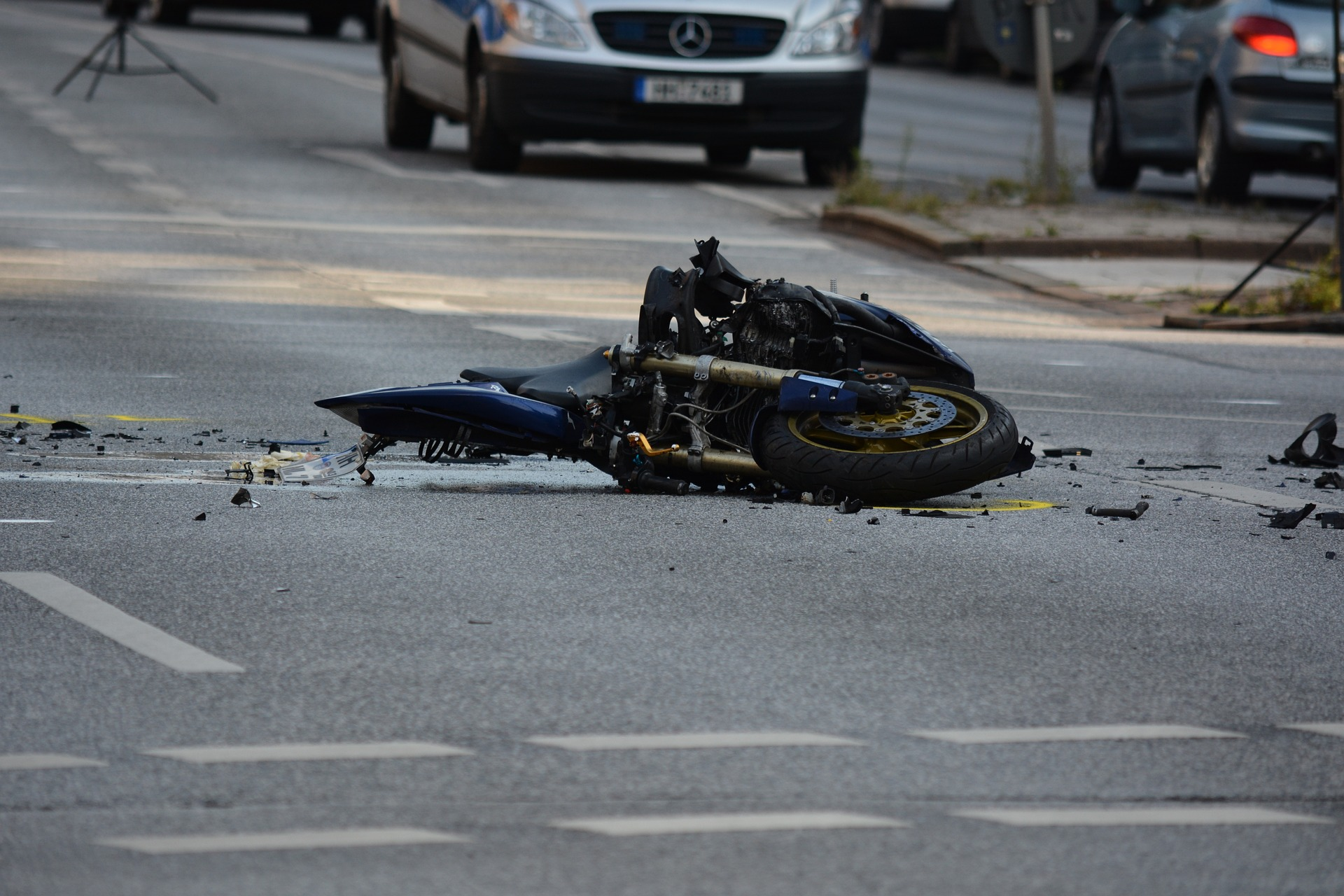 Talande bild på när det är bra att ha en motorcykelförsäkring